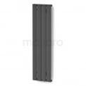 Aluminium Designradiator Eris Donkergrijs Metallic Maxaro Eris DR56_0412RD