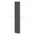 Aluminium Designradiator Eris Donkergrijs Metallic 883 Watt 31,5x180cm Verticaal Maxaro Eris DR56_0418RD