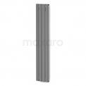 Aluminium Designradiator Eris Lichtgrijs Metallic 883 Watt 31,5x180cm Verticaal Maxaro Eris DR56_0418RL
