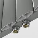 Maxaro Eris DR56_0412RL Aluminium Designradiator Eris Lichtgrijs Metallic