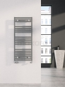 Aluminium Handdoekradiator Zeus Lichtgrijs Metallic 890 Watt 50x120cm Verticaal