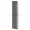 Aluminium Designradiator Sol Lichtgrijs Metallic 524 Watt 25x120cm Verticaal Maxaro Sol DR59_0612RL
