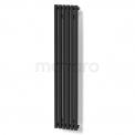 Aluminium Designradiator Sol Zwart 524 Watt 25x120cm Verticaal Maxaro Sol DR59_0612SB