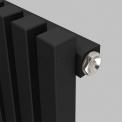 Aluminium Designradiator Sol Zwart 524 Watt 25x120cm Verticaal