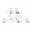 Maxaro Mars DRS001A Radiator met kraan en handdoekhaakjes