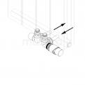 MOCOORI Jupiter DRS004A Radiator met kraan en handdoekbeugel