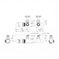 MOCOORI  DRK12 Radiatorkraan set