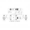 MOCOORI Mars DRS001C Radiator met kraan en handdoekhaakjes
