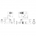 MOCOORI  DRK14 Radiatorkraan set