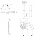 Maxaro  DSA-0402-00000 Doucheset opbouw