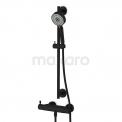 Doucheset opbouw zwart VARONO Cinqa DSA-5502-20004