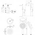 Maxaro  DSC-0304-00000 Douchecombinatie