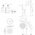 Regendouche Set Balance Chrome 25cm Opbouw Thermostaat Chroom