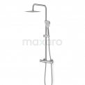 Regendouche Set Balance Chrome 20cm Opbouw Thermostaat Chroom Maxaro Balance DSC-0304-10002
