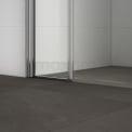 Douchewand Met Draaideur Zircon Comfort 180cm Chroom Look