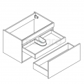 MOCOORI Curve F01-080010401 Hangend badkamermeubel