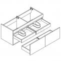 Maxaro Curve F01-144022201 Hangend badkamermeubel