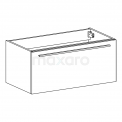 Maxaro Canto F02-090010403 Badkamermeubel 90cm Canto Hoogglans Wit 1 Lade Vlak Wastafel Mineraalmarmer
