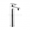 Wastafelkraan Balance Chrome Eéngreeps Verhoogd Model Chroom Maxaro Balance F0802A