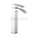 Wastafelkraan Balance Chrome Eéngreeps Verhoogd Model Chroom Maxaro Balance F0902A