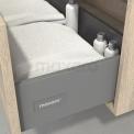 Badkamermeubel voor Waskom 180cm Eiken Kader Modulo+ Plato Hoogglans Wit Blad