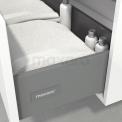 Badkamermeubel voor Waskom 120cm Hoogglans Wit Lamel Modulo+ Plato Eiken Blad