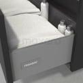 Badkamermeubel voor Waskom 120cm Carbon Vlak Modulo+ Plato Mat Wit Blad