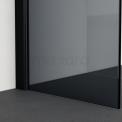 Inloopdouche 80x80cm Rookglas Veiligheidsglas 8mm Mat Zwart