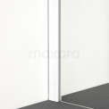 Douchewand Inloopdouche 140cm met Matte Strook Veiligheidsglas 8mm Mat Wit