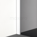 Douchewand Inloopdouche 80cm Rookglas Veiligheidsglas 8mm Mat Wit