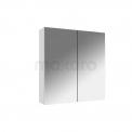 Spiegelkast 60x60cm Hoogglans Wit 2 Deuren Maxaro K01 K01-0600-40400