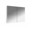 Spiegelkast Lato 80x60cm Hoogglans Wit 2 Deuren Maxaro Lato K01-0800-40400