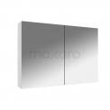 Spiegelkast Lato 90x60cm Hoogglans Wit 2 Deuren Maxaro Lato K01-0900-40400