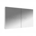 Spiegelkast Lato 100x60cm Hoogglans Wit 2 Deuren Maxaro Lato K01-1000-40400