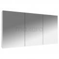 Spiegelkast Lato 120x60cm Hoogglans Wit 3 Deuren Maxaro Lato K01-1200-40402