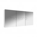 Spiegelkast Lato 135x60cm Hoogglans Wit 3 Deuren Maxaro Lato K01-1350-40402