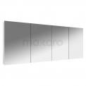 Spiegelkast Lato 160x60cm Hoogglans Wit 4 Deuren Maxaro Lato K01-1600-40400