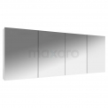 Spiegelkast Lato 180x60cm Hoogglans Wit 4 Deuren Maxaro Lato K01-1800-40400