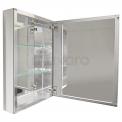 Spiegelkast Mio 50x60cm Aluminium 1 Deur