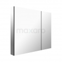 Spiegelkast Mio 75x60cm Aluminium 2 Deuren Maxaro Mio K03-0750-45605