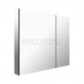 Spiegelkast 75x60cm Aluminium 2 Deuren Maxaro K03 K03-0750-45605
