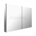 Spiegelkast 100x60cm Aluminium 2 Deuren Maxaro K03 K03-1000-45605