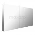 Spiegelkast Mio 125x60cm Aluminium 3 Deuren Maxaro Mio K03-1250-45605