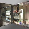 Spiegelkast Mio 100x60cm Aluminium 2 Deuren