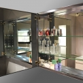 Maxaro K03 K03-0750-45605 Spiegelkast 75x60cm Aluminium 2 Deuren