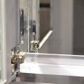 Spiegelkast Mio 75x60cm Aluminium 2 Deuren