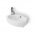 Fonteintje WC Clasico Keramiek Wit Kraangat Links met Overloop Maxaro Clasico K110-1080