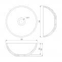 Toiletmeubel met Waskom Keramiek Modulo Pico Hoogglans Wit 41cm