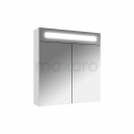 Spiegelkast met Verlichting 60x65cm Hoogglans Wit Maxaro K31 K31-0600-40410