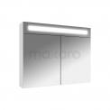 Spiegelkast met Verlichting 80x65cm Hoogglans Wit Maxaro K31 K31-0800-40410